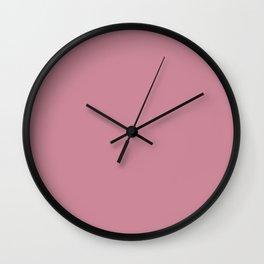 Puce Pink Wall Clock