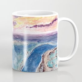 Great Barrier Reef at sunset - aerial view - coral reef - wall art Coffee Mug