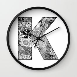 Cutout Letter K Wall Clock
