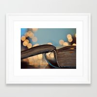 kindle Framed Art Prints featuring Happy Monday by elle moss