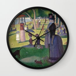 Georges Seurat - A Sunday Afternoon on the Island of La Grande Jatte Wall Clock