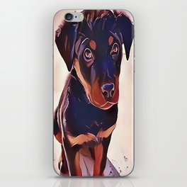 Rottweiler Puppy Born To Be Wild iPhone Skin