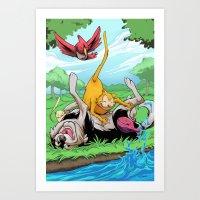 leah flores Art Prints featuring Leah by Esau Figueroa