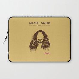 The Longer the Hair — Music Snob Tip #073 Laptop Sleeve