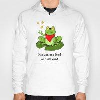 merlin Hoodies featuring Merlin the Useless Toad by sirwatson