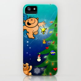 The Christmas Angel and the Missing Star iPhone Case