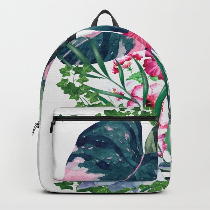 Tropical Plants Rucksack