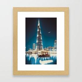 BLUE BURJ Framed Art Print