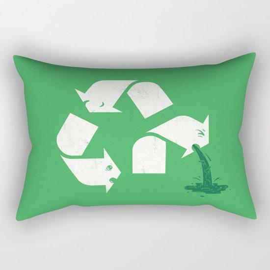 Green Sickness Rectangular Pillow