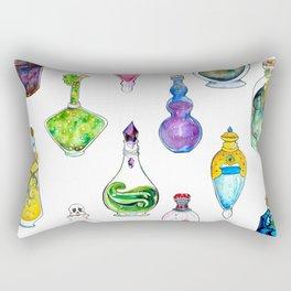 Potion Bottle Print Rectangular Pillow
