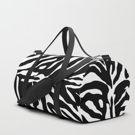 Black and white Zebra Stripes Design Duffle Bag