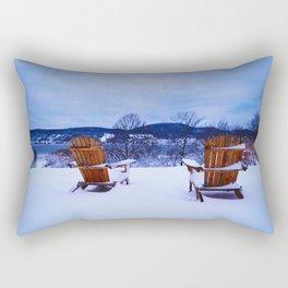 Face the Cold Rectangular Pillow
