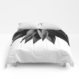 Agave fringe - noir Comforters