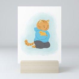 I Love You Papa Kitty Mini Art Print