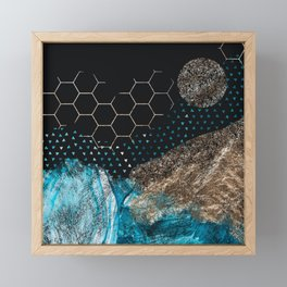 Midnight Mountain Framed Mini Art Print