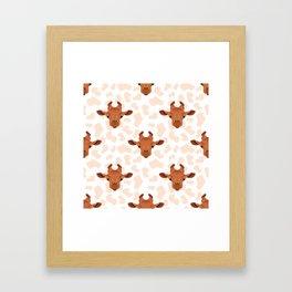 Funny giraffe Framed Art Print