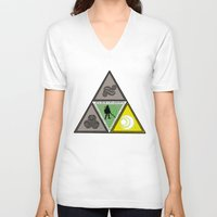 courage V-neck T-shirts featuring Courage by Killgannon
