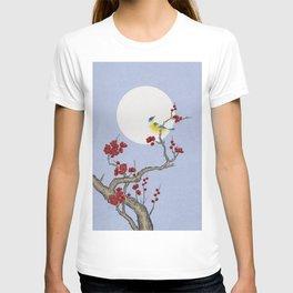 Plum blossoms, bird and the moon Type F (Minhwa: Korean traditional/folk art) T-shirt