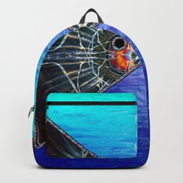 Fishies in Love, Kissing Fishes, Scanography Art Backpack