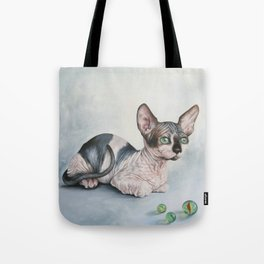Sphynx With Marbles Tote Bag