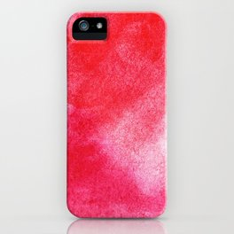 Red Watercolor Wall Art iPhone Case