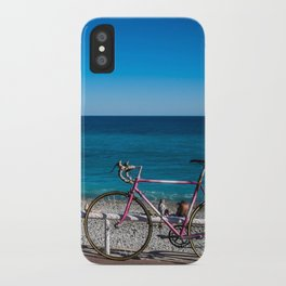 Beach and the bike - Nice, France summer iPhone Case