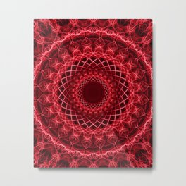 Rich mandala in red tones Metal Print