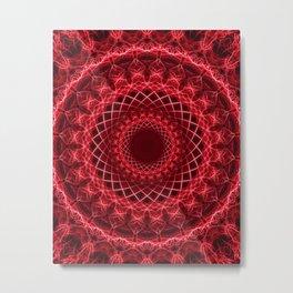 Rich mandala in red tones Metal Print