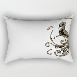 Metallic Bird Rectangular Pillow