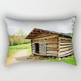 Historic Log Cabin Rectangular Pillow