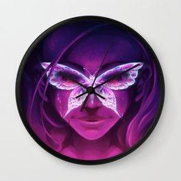 Butterfly Rash - Lupus Awareness Wall Clock