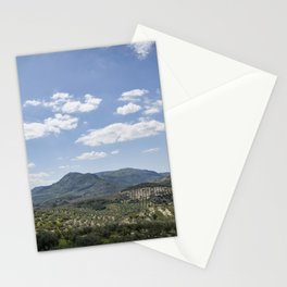 Mountains and Olive Trees Stationery Cards