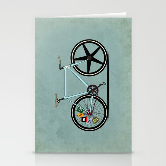 Fixie Bike Stationery Cards