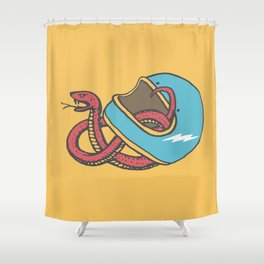 vipera color Shower Curtain