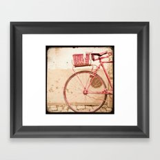 i took my bike and went against the wind... Framed Art Print