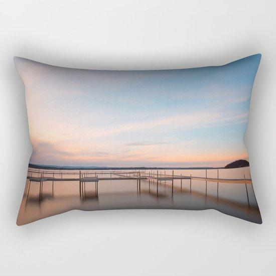 Saratoga Lake Sunset Rectangular Pillow