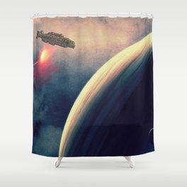 Excursion through time Shower Curtain