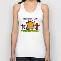 keith haring Tank Tops featuring Keith Haring & The neighbours by le.duc