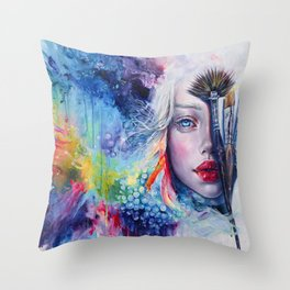 Coralized Throw Pillow