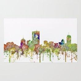 Boston, Massachusetts Skyline SG - Faded Glory Rug