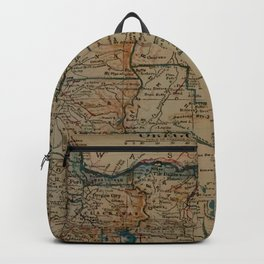 Vintage Map of Oregon (1921) Backpack