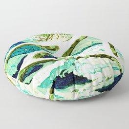 The Winter Green Floor Pillow