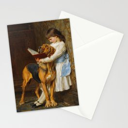 Briton Riviere  -  Reading Lesson  Compulsory Education Stationery Cards