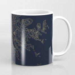 Mount Rainier, WA Topographic Contour Map Coffee Mug