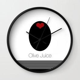 Olive Juice AKA I LOVE YOU Wall Clock