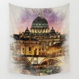 The City of Rome Wall Tapestry