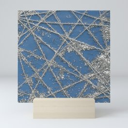 Sparkle Net Blue Mini Art Print