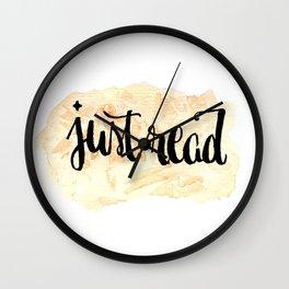 JustRead Wall Clock