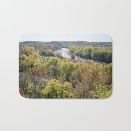 Autumn Forest with River | Nature Landscape Photography of Forest During Fall Bath Mat
