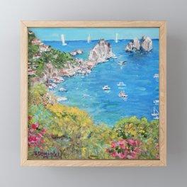 Faraglioni Rocks in Capri Framed Mini Art Print